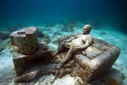Un museo subacuático que mezcla el arte y el medio ambiente