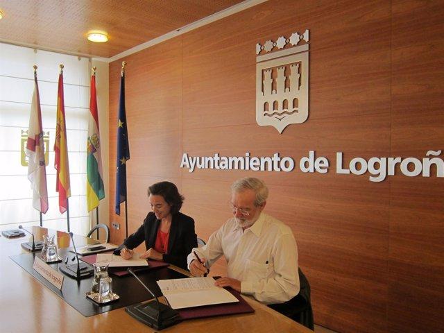 Convenio de colaboración entre el Ayuntamiento de Logroño y la UPL