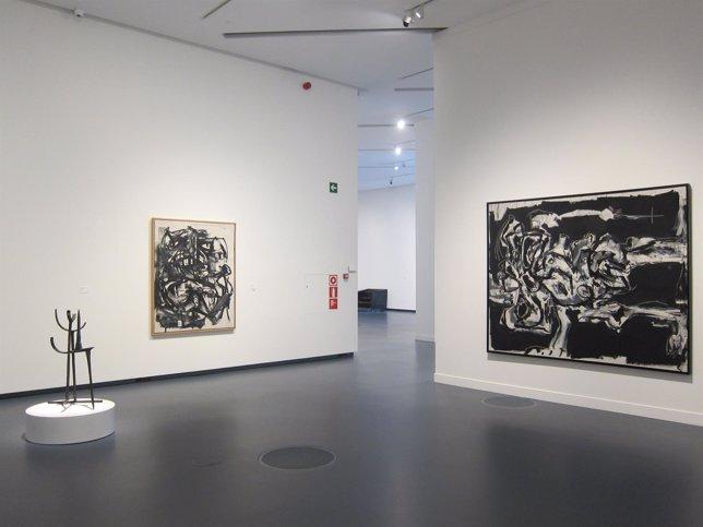Obras de Antonio Saura en la inauguración del CaixaForum Zaragoza