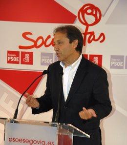 Juan Luis Gordo, en rueda de prensa.
