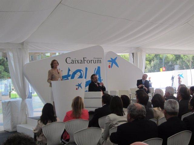 Inauguración de CaixaForum en Zaragoza.
