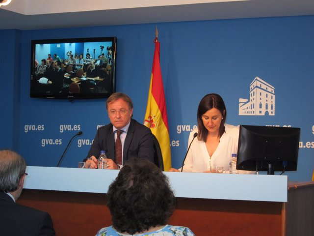 Moragues y Català en tras el pleno del Consell