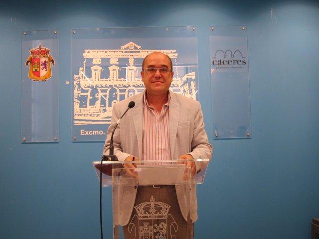 Valentín Pacheco, Alcalde En Funciones De Cáceres