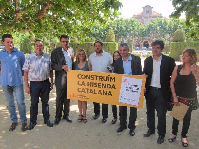 Oriol Junqueras (ERC), en un acto sobre la hacienda catalana