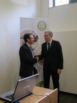 El presidente del cluster de la madera y el conselleiro de Economía