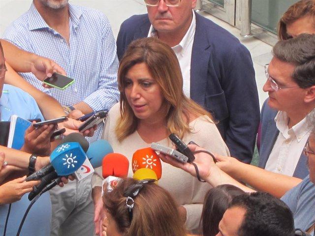 La presidenta de la Junta de Andalucía, Susana Díaz (PSOE)