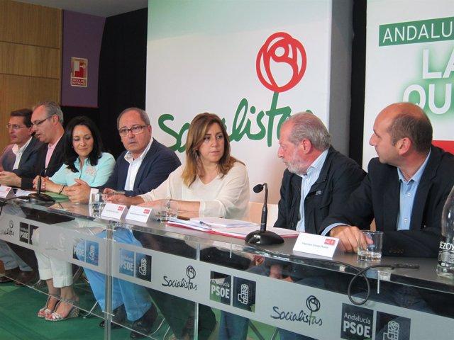 Susana Díaz preside el Consejo de Política Municipal del PSOE-A en Almería