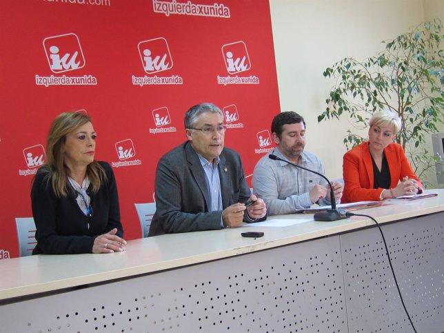 Ángela Vallina, Manuel Orviz, y Javier Couso, IU Elecciones Europeas