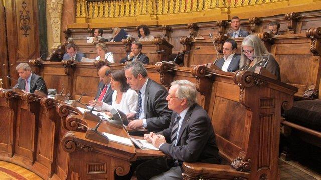 El alcalde Xavier Trias, en el Pleno del Ayuntamiento