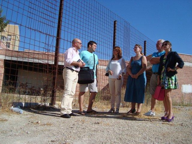 Visita del PSOE de Jaén al Polígono del Valle