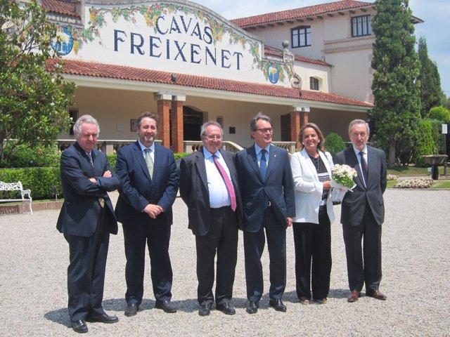 Visita del presidente Artur Mas a Freixenet