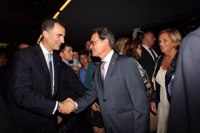 El Rey y Artur Mas