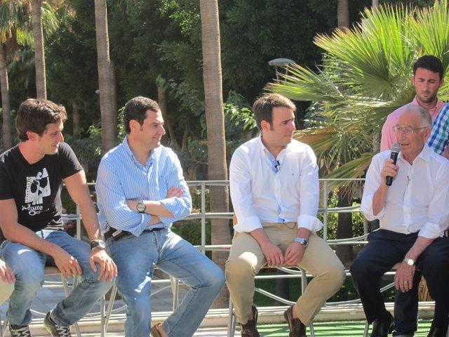Moreno, en su acto con NNGG Andalucía en Almería