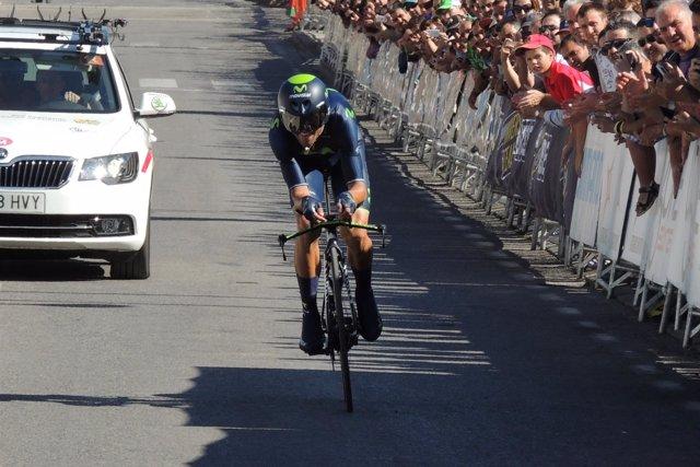 El ciclista español del Movistar Team Alejandro Valverde