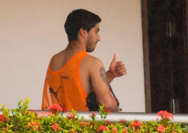 Luis Suárez tras recibir  la sanción de nueve partidos