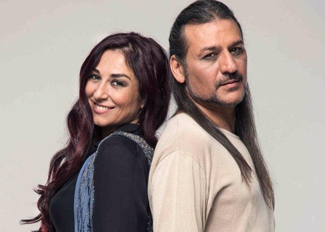 Dioni MArtín y Ángela Muñoz (Camela)