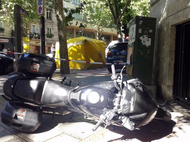 Imagen de la moto siniestrada