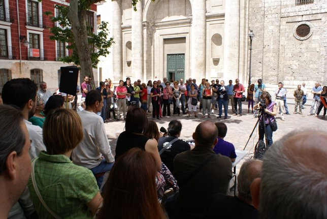 Participantes en el acto 'Valladolid toma la palabra'