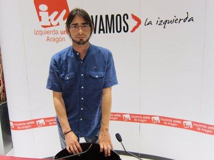 El diputado de IU La izquierda de Aragón, Álvaro Sanz, releva a Chesús Yuste (CHA)