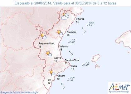 Las temperaturas bajarán este lunes en la Comunitat Valenciana