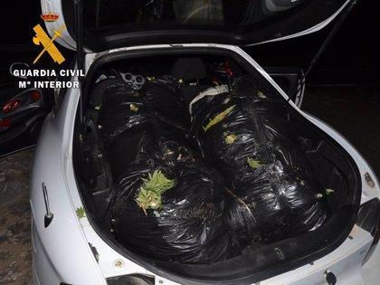 Cuarenta kilos de marihuana dentro de un vehículo