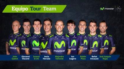 """El Movistar presenta un equipo """"para aspirar al podio"""" liderado por Valverde"""