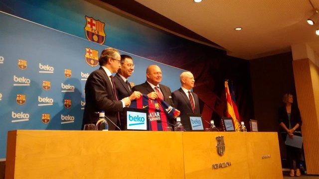 Presentación del acuerdo entre Beko y el FC Barcelona