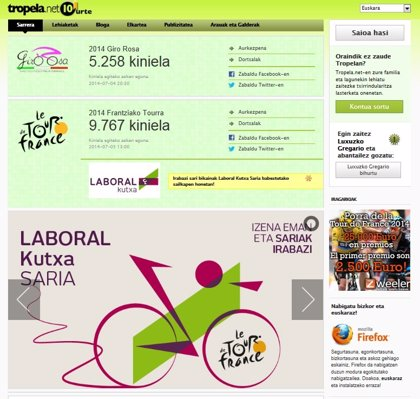 Laboral Kutxa patrocina un Tour de Francia y una Vuelta a España virtuales para impulsar el uso del euskara