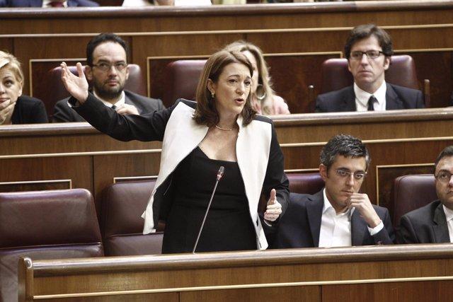 La portavoz del PSOE, Soraya Rodríguez