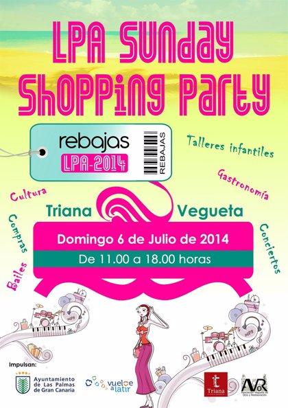 Las Palmas de Gran Canaria volverá a acoger la LPA Sunday Shopping Party este domingo