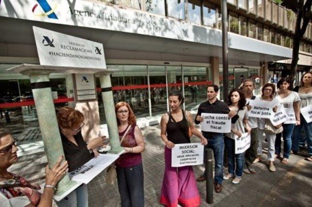 Protestas contra la reforma fiscal del Gobierno