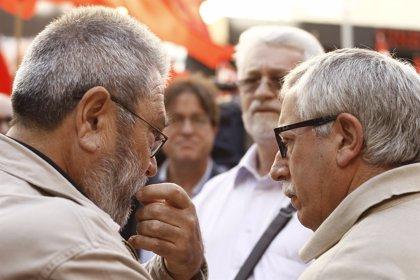 Méndez y Toxo prometen que agotarán medios e instancias para liberar a los 'piquetes' detenidos