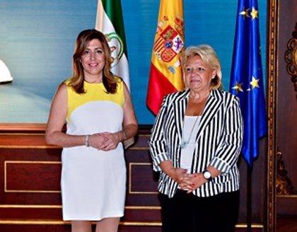 Susana Díaz se reúne con la presidenta de la Asociación de Víctimas del Terrorismo