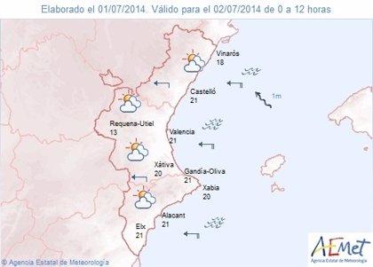 El interior de Castellón y de Valencia están en alerta amarilla por tormentas