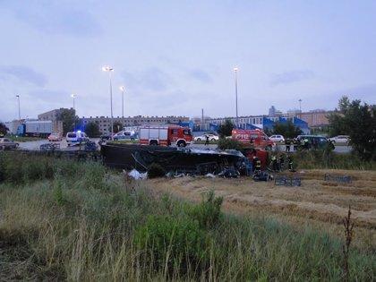 Detenido el conductor de un camión tras un accidente en Pamplona