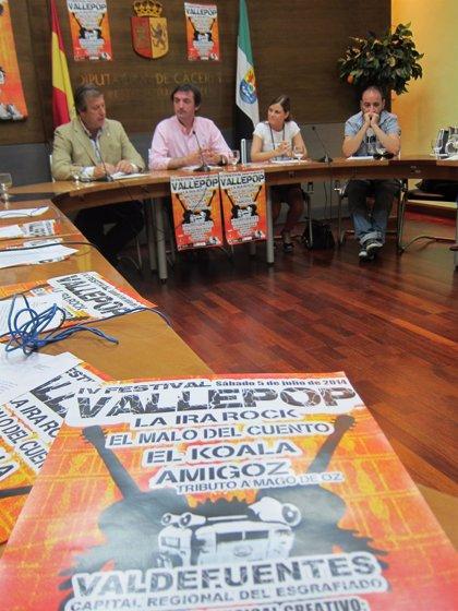 'El malo del cuento' y 'La ira rock', entre los grupos que tocarán en el festival 'Vallepop' de Valdefuentes (Cáceres)