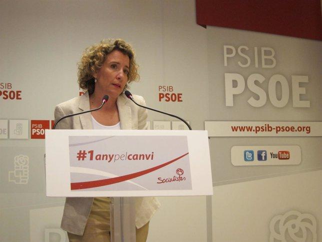 Aina Calvo en la sede del PSIB