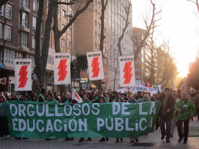 Manifestación contra la LOMCE en Santander. 22 febrero 2014