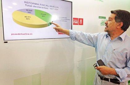"""PSOE dice que el """"18% de los onubenses con rentas altas"""" serán """"los mayores beneficiados"""" de la reforma fiscal"""