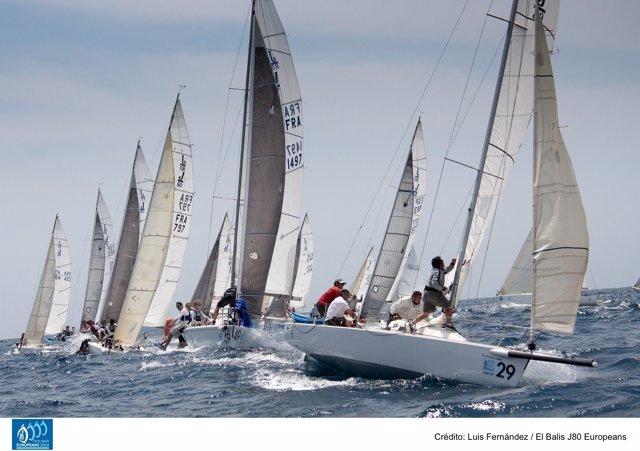 Imagen del 'Oxital' en la regata de este miércoles