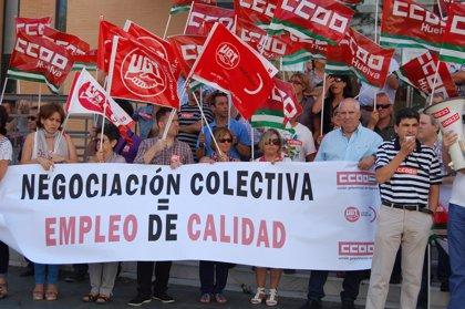 CCOO se moviliza para exigir la mejora de las infraestructuras en Huelva y un impulso a la negociación colectiva