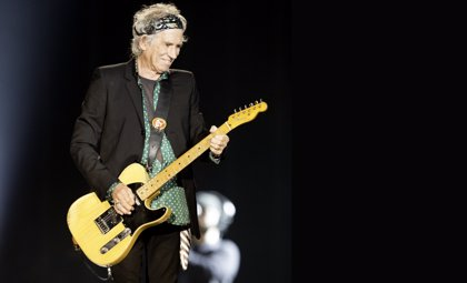 Keith Richards, el guitarrista más escuchado de Spotify