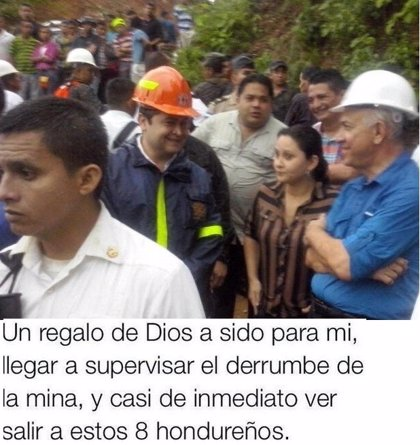 "Presidente de Honduras pide ""perdón"" por decir que vio salir a 8 mineros"