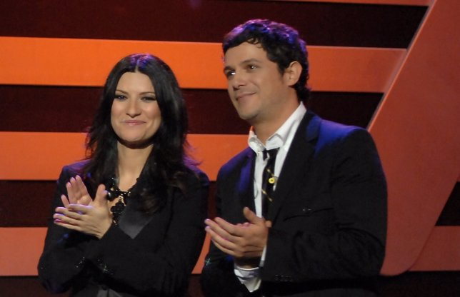 Alejandro Sanz y Laura Pausini en La Voz
