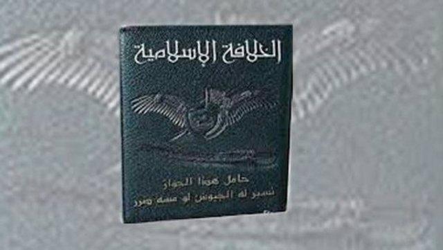El pasaporte del Estado Islámico, angituo ISIS