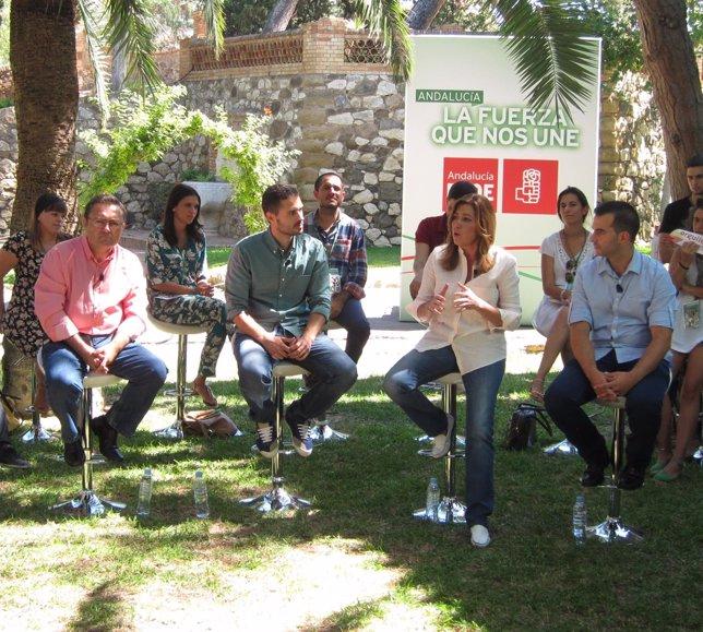 Acto de la secretaria general del PSOE-A con juventudes