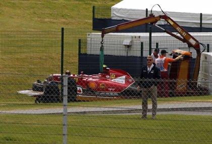 Raikkonen, ileso tras el accidente de la primera vuelta