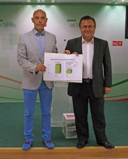Antonio Hurtado y Miguel Angel Heredia en rueda de prensa sobre reforma fiscal