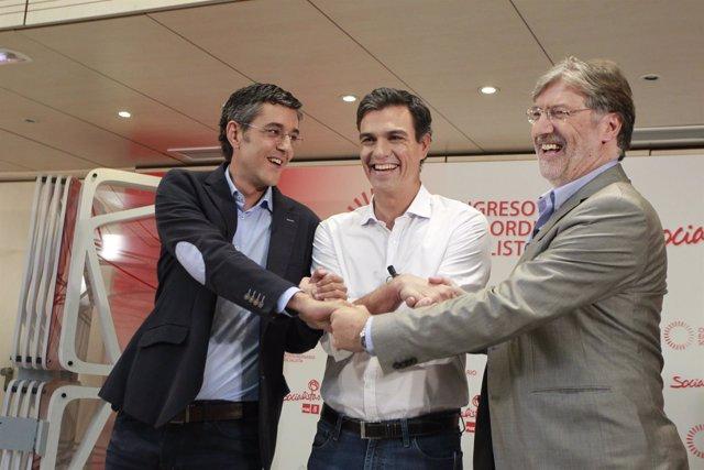 Candidatos a la Secretaría General del PSOE