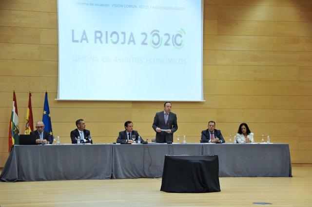 Sanz, durante su intervención ante el pleno de la Oficina de Asuntos Económicos